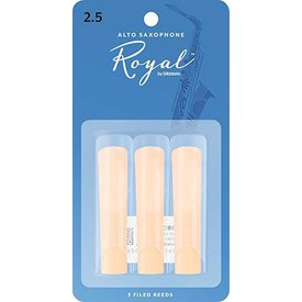 Rico Rico Royal Alto Sax Reeds, Strength 2.5, 3-pack