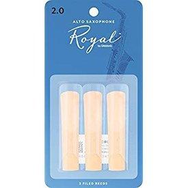 Rico Rico Royal Alto Sax Reeds, Strength 2.0, 3-pack