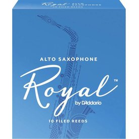 D'Addario Woodwinds (Previously Rico) Royal by D'Addario Alto Sax Reeds, Strength 5.0, 10-pack