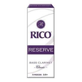 Rico Rico Reserve Classic Bass Clarinet Reeds, Box of 5 Strength 3.5+