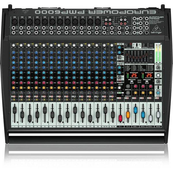 Behringer Behringer PMP6000 1600W 20-Channel Mixer, M-FX