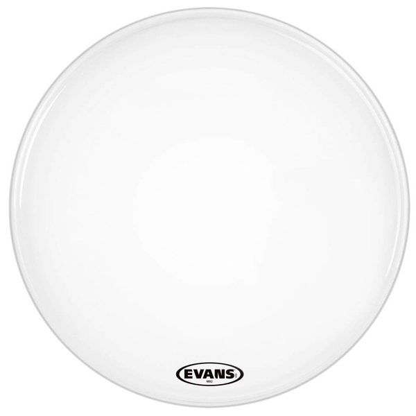 Evans Evans MX2 White Marching Bass Drum Head 24""