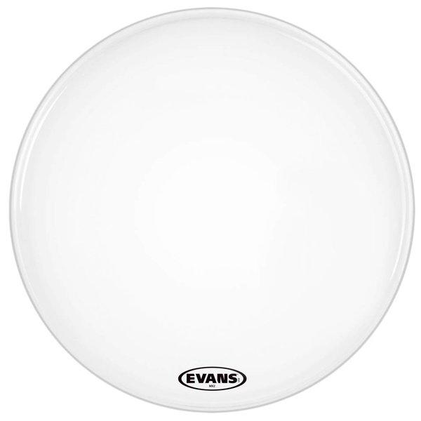 "Evans Evans MX2 White Marching Bass Drum Head 24"""