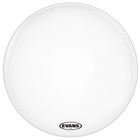 Evans MX2 White Marching Bass Drum Head 18""
