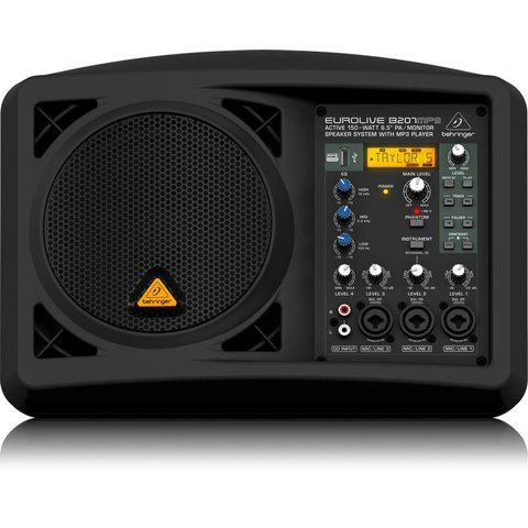 "Behringer B207MP3 150W 6.5"" PA/Monitor Speaker Sys"