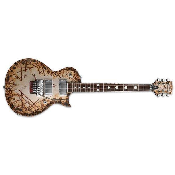 ESP ESP E-II Richard Z. RZK-II Burnt Signature Series Electric Guitar