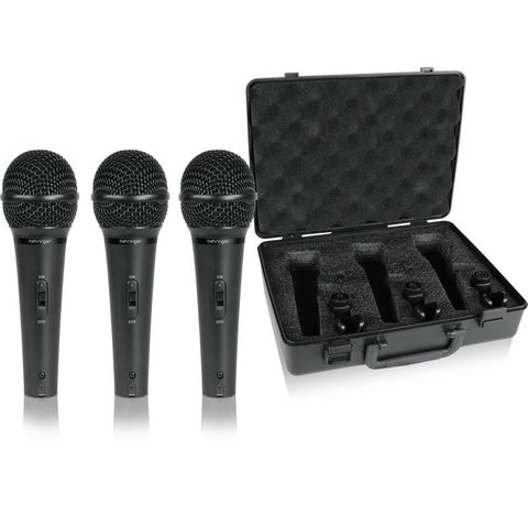 Behringer XM1800S Dynamic Microphone 3-Pack