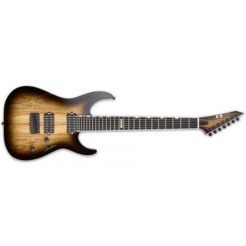 ESP E-II M-II-7 NT Dark Brown Natural Burst 7-String Electric Guitar