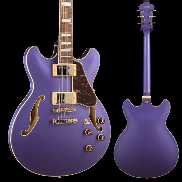 Ibanez Ibanez AS73GMPF AS Artcore 6str Electric Guitar - Metallic Purple Flat S/N PW18111450