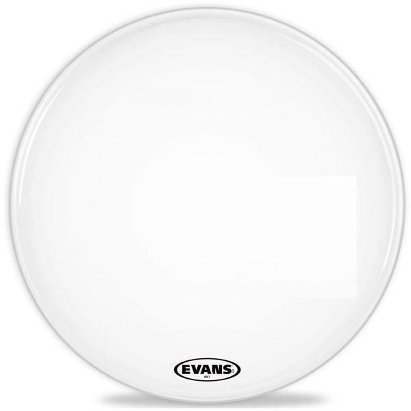 "Evans Evans MX1 White Marching Bass Drum Head 24"""