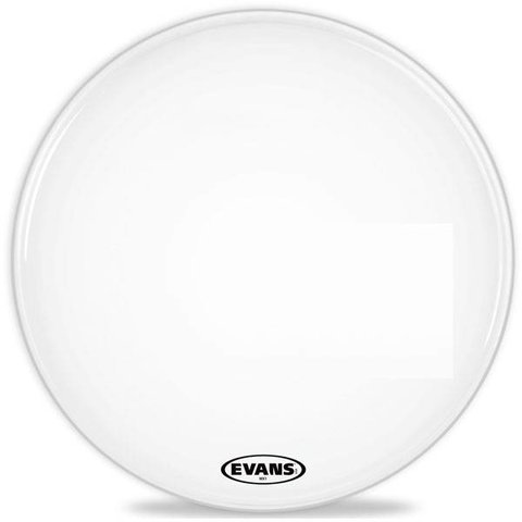 Evans MX1 White Marching Bass Drum Head 18""