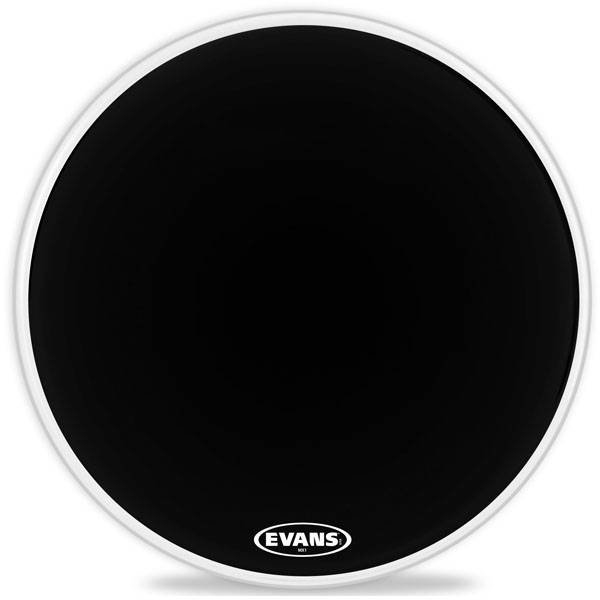 "Evans Evans MX1 Black Marching Bass Drum Head 24"""