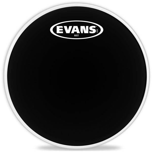 """Evans Evans MX Black Marching Tenor Drum Head 6"""""""