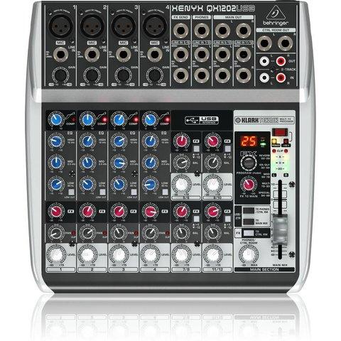 Behringer QX1202USB 12-Input 2-Bus Mixer, XENYX/EQ