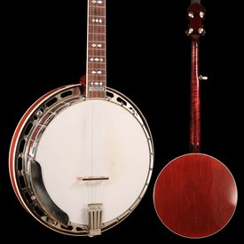 Gibson Steve Gill Neck on 1920's Gibson Ball Bearing Pot Banjo, Rim turned and fitted with Yates V33 Tone Ring