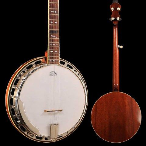Custom Steve Gill Fiddle Cut Peg Head RB250/3 Neck, Steve Gill Resonator, Yates V33 Tone Ring Banjo
