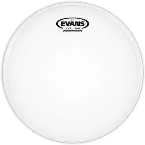 "Evans G12 Coated White Drum Head 6"""