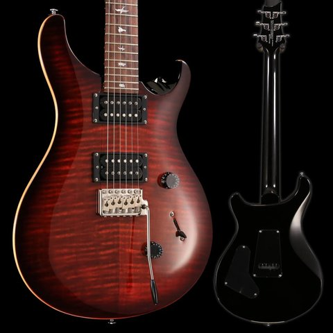 PRS Paul Reed Smith SE Custom 24 Fire Red Burst w/ Bag