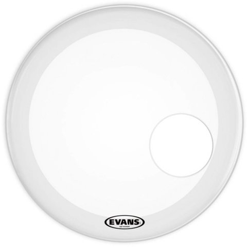 Evans EQ3 Resonant Smooth White Bass Drum Head 24""