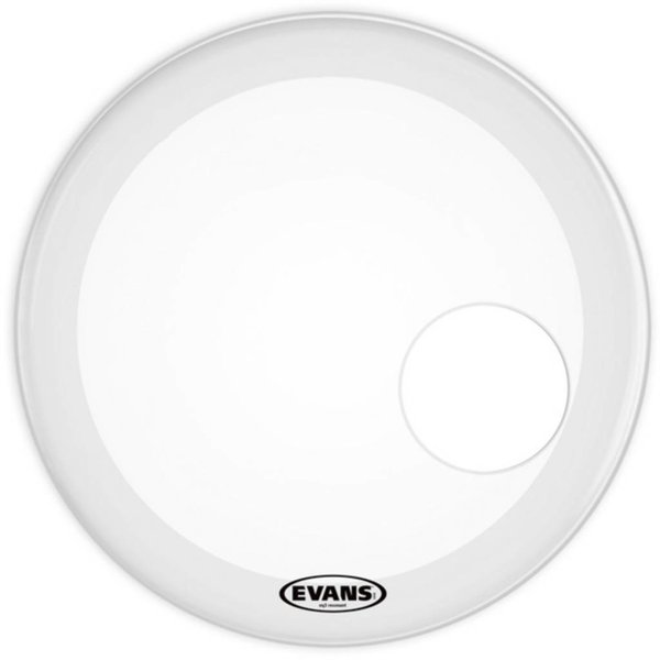 Evans Evans EQ3 Resonant Smooth White Bass Drum Head 24""