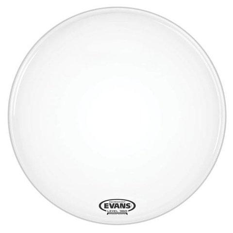 "Evans EQ3 Resonant Coated White Bass Drum Head, No Port 20"""