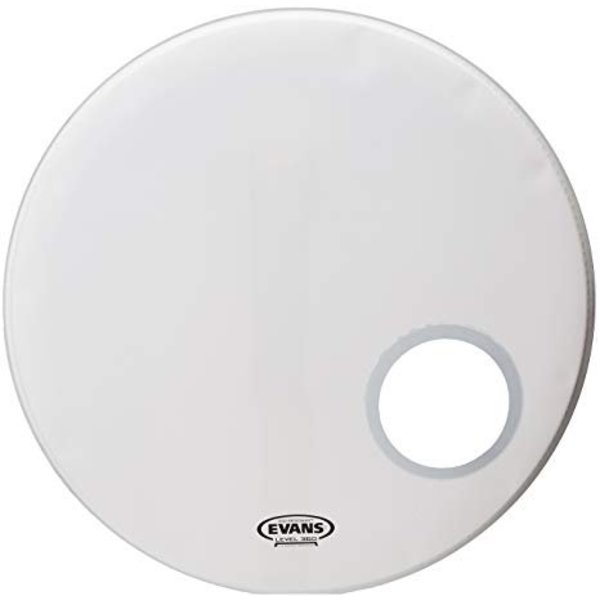 Evans Evans EQ3 Resonant Coated White Bass Drum Head, 24 Inch