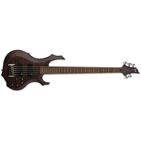 LTD ESP LTD F-205 Flamed Maple Walnut Brown Satin 5-String Electric Bass Guitar