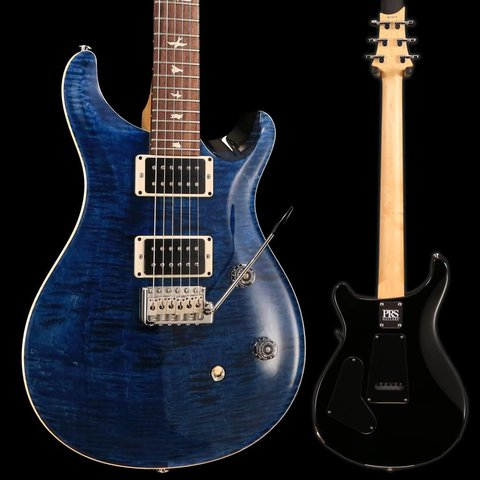 PRS Paul Reed Smith CE24 Bolt-On Flame Maple Top, Rosewood FB, Pattern Thin, Whale Blue
