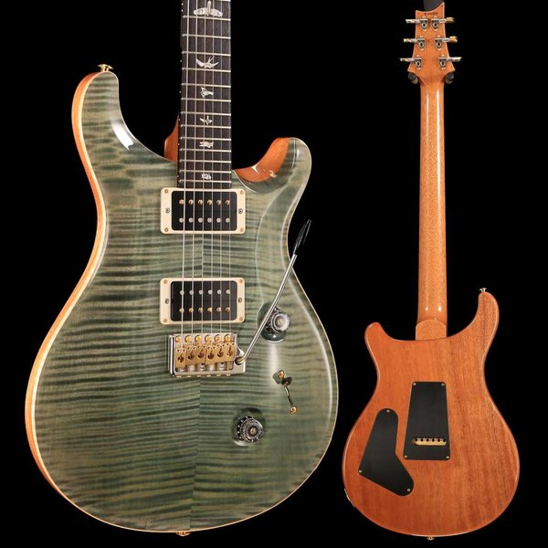 PRS PRS Paul Reed Smith Custom 24 Ten 10-Top, Pattern Thin, Trampas Green Hybrid