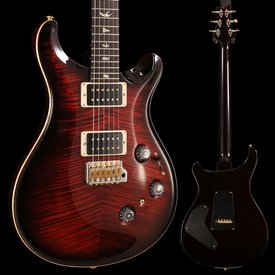 PRS PRS Paul Reed Smith Custom 24 Piezo Ten 10-Top, Pattern Thin Neck, Fire Red Burst Hybrid