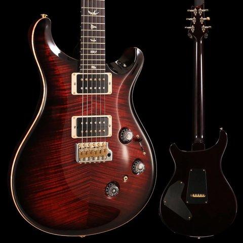 PRS Paul Reed Smith Custom 24 Piezo Ten 10-Top, Pattern Thin Neck, Fire Red Burst Hybrid