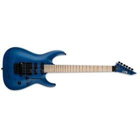 LTD ESP LTD MH-203 Quilted Maple See-thru Black Left-Handed Electric Guitar