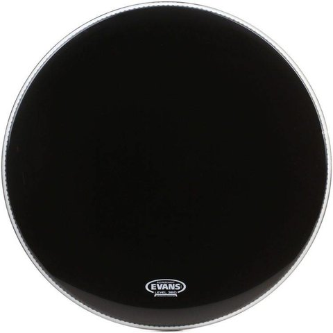 Evans EQ3 Resonant Black Bass Drum Head, No Port 20""