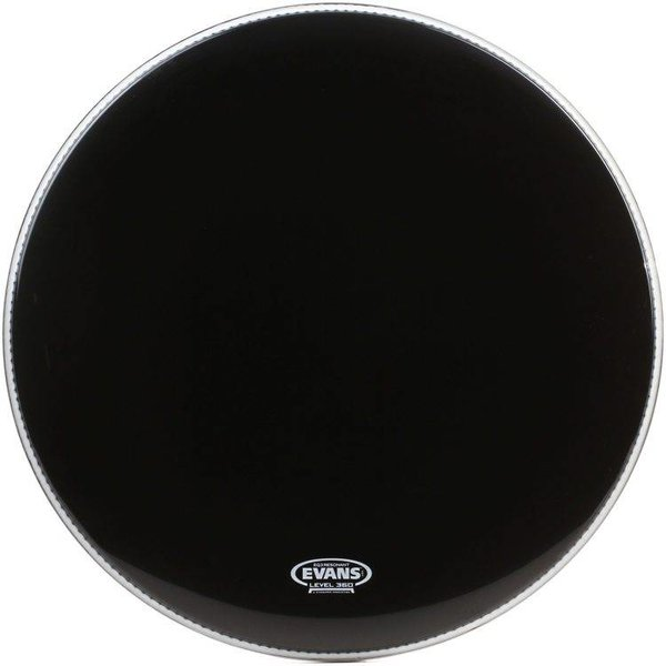 Evans Evans EQ3 Resonant Black Bass Drum Head, No Port 20""
