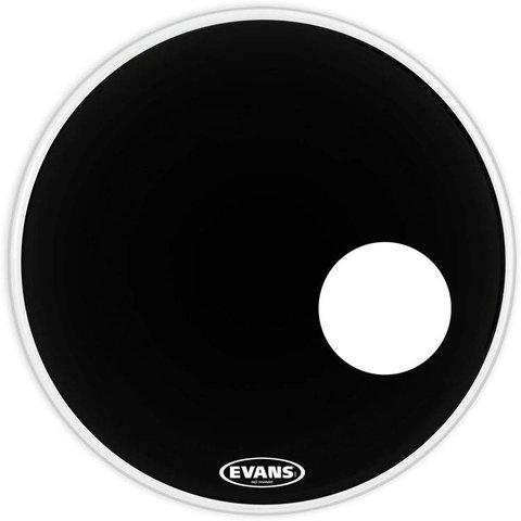 """Evans EQ3 Resonant Black Bass Drum Head 24"""""""