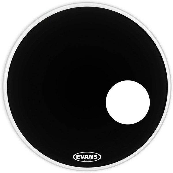 Evans Evans EQ3 Resonant Black Bass Drum Head, 22 Inch