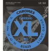 D'Addario ECG24-7 Chromes Flat Wound 7-String Electric Strings Jazz Light, 11-65