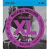 D'Addario EXL120 Nickel Wound Electric Guitar Strings, Super Light, 9-42 10 Sets
