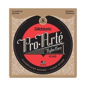 D'Addario Fretted D'Addario EJ45-3D Pro-Arte Nylon Classical Guitar Strings, Normal Tension, 3 Sets