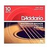 D'Addario EJ17 Phosphor Bronze Acoustic Guitar Strings, Medium, 13-56  10 Sets