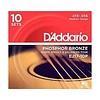 D'Addario EJ17 Phosphor Bronze Acoustic Guitar Strings, Medium, 13-56  10 Sets