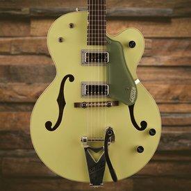 Gretsch Guitars Gretsch G6118T-60 Vint. Select Edtn '60 Anvsry Hollow Body w/ Bigsby, TV Jones, 2-Tone Smoke Green S/N JT17113247