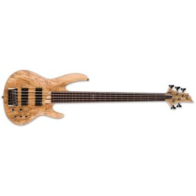 LTD ESP LTD B-205 Spalted Maple Natural Satin Fretless 5-String Electric Bass Guitar