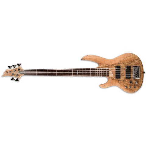 ESP LTD Spalted Maple Natural Satin Left-Handed Electric Bass Guitar