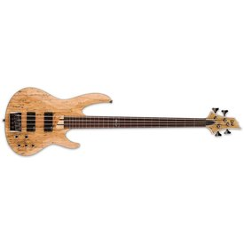 LTD ESP LTD B-204 Spalted Maple Natural Satin B Series Fretless Electric Bass Guitar
