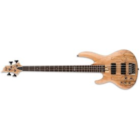 LTD ESP LTD B-204 Spalted Maple Natural Satin Left-Handed Electric Bass Guitar
