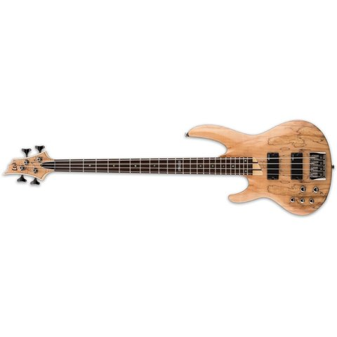 ESP LTD B-204 Spalted Maple Natural Satin Left-Handed Electric Bass Guitar