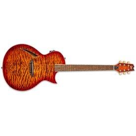 LTD ESP LTD Thinline Series TL-6 Quilted Maple Tiger Eye Burst Electric Guitar