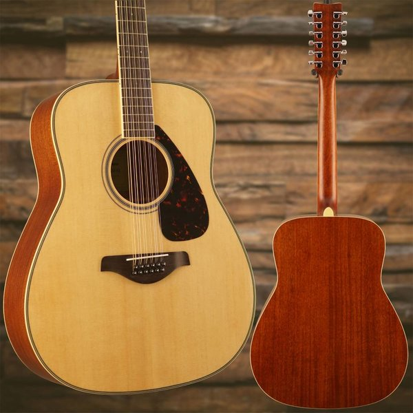 Yamaha Yamaha FG820-12 Natural Folk Guitar Solid Top 12-String S/N HOX181382