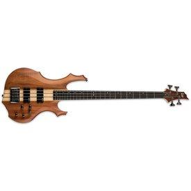 LTD ESP LTD F-4E Ebony Mahogany Natural Satin Electric Bass Guitar